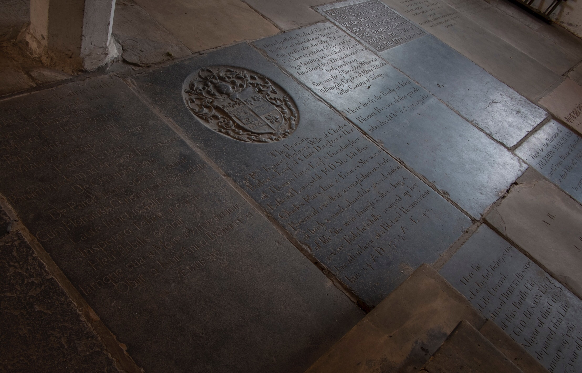 Ledger stones at st Martin cum Gregory york