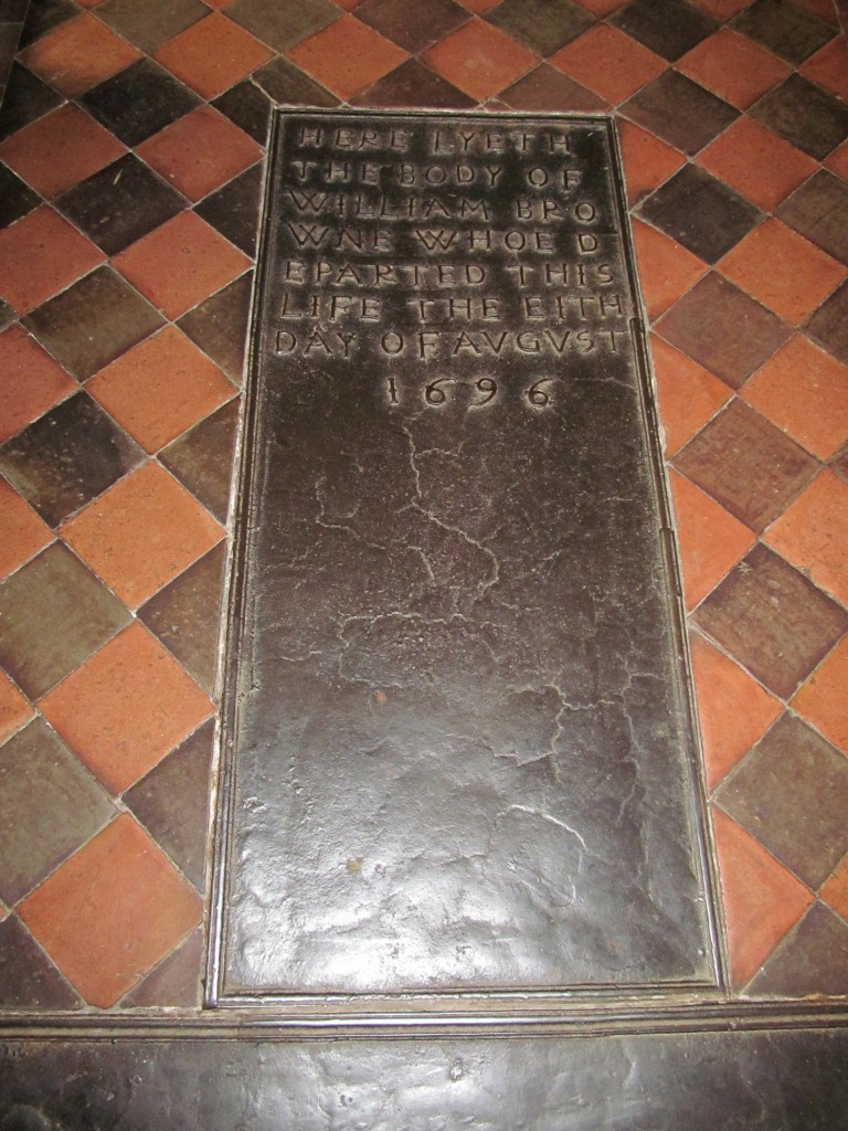 Ledgerstone to William Browne, Leighton Shropshire